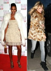 Fur and skin trade - Fur coat women who don't care